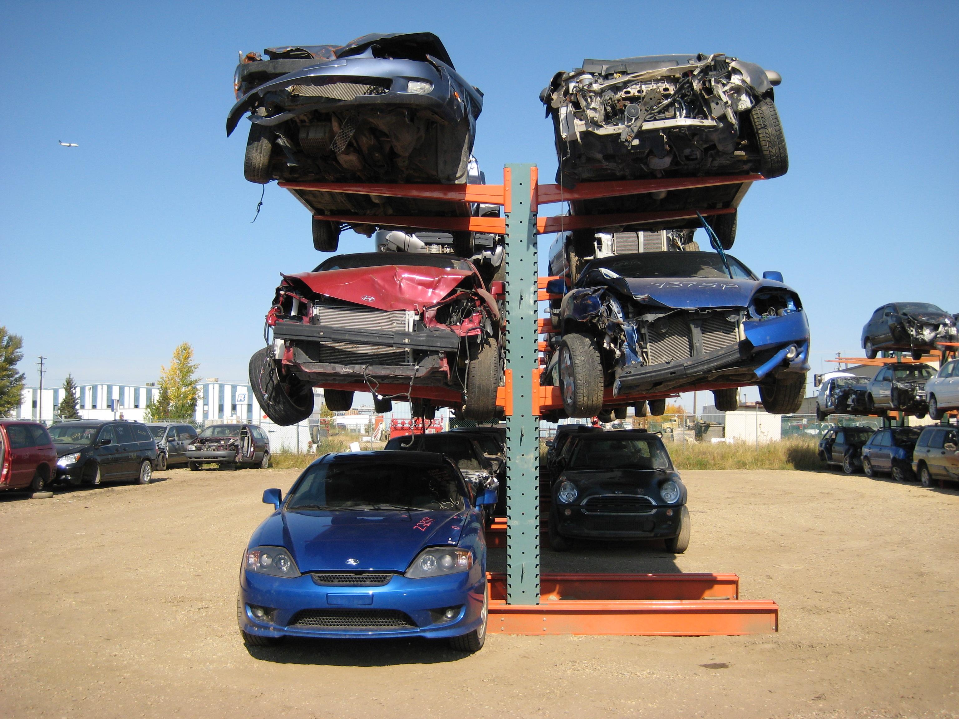 Car Racks picture 2 & Warehouse Blog: Automotive Storage Racks for Auto Salvage Yards